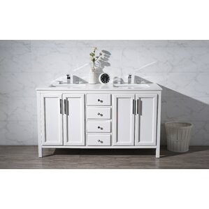 gray double sink vanity. brayden studio gray double sink vanity