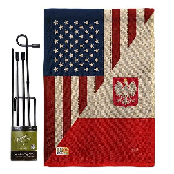Breeze Decor American Polish Friendship The World Impressions 2 Sided Polyester 19 X 13 In Flag Set Wayfair