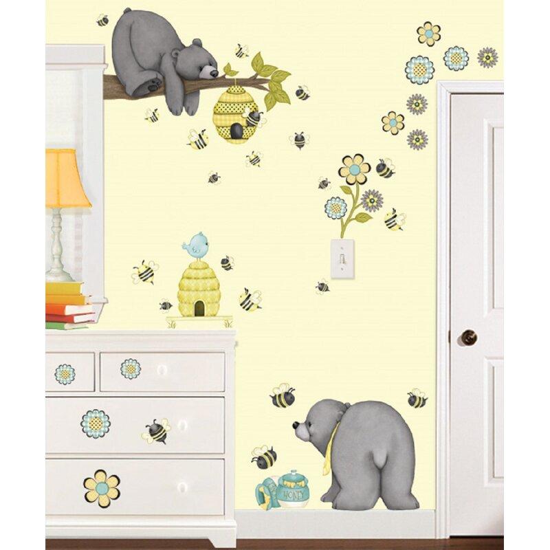 Borders Unlimited Patchwork Honey Super Jumbo Appliqué 66 Piece Set Wall Decal Wayfair