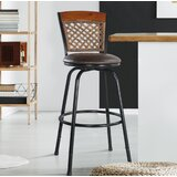 Jemnice Swivel Adjustable Height Bar Stool by Red Barrel Studio®