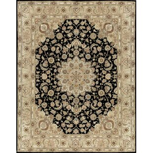 Online Reviews Castilian II Hand-Tufted Wool/Silk Black/Beige Area Rug By Bokara Rug Co., Inc.