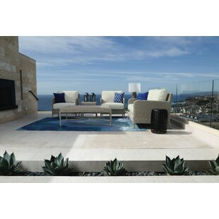 Manhattan 5 Piece Deep Sunbrella Seating Group with Cushions by Sunset West