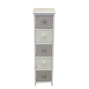 Baldric Wooden 5 Drawer Accent..