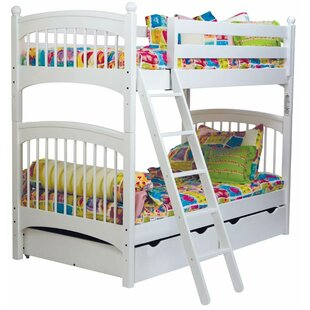 Bonneau Twin Over Twin Bunk Bed with Drawers by Harriet Bee