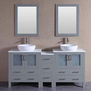 Danny 71 Double Bathroom Vanity Set with Mirror 1 by Bosconi
