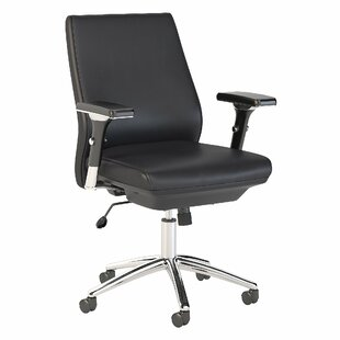 Studio C Mid Back Ergonomic Genuine Leather Executive Chair