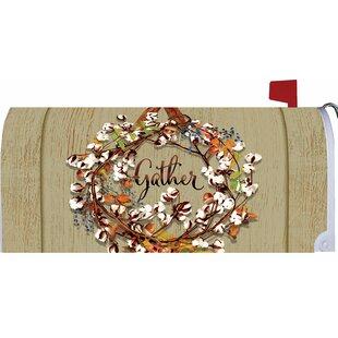 Cotton Wreath Mailbox Cover By Custom Decor