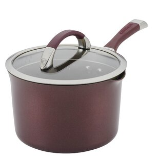 Symmetry Hard-Anodized Non-stick 3.5 qt. Straning Sauce Pan with Lid