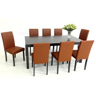 9 Piece Solid Wood Dining Set by Warehouse of Tiffany