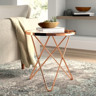 Chevy Clear Glass Top End Table by Mistana