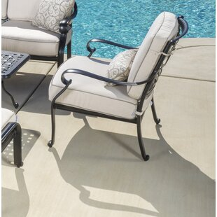 Croydon Patio Chair with Sunbrella Cushions (Set of 2) by Darby Home Co