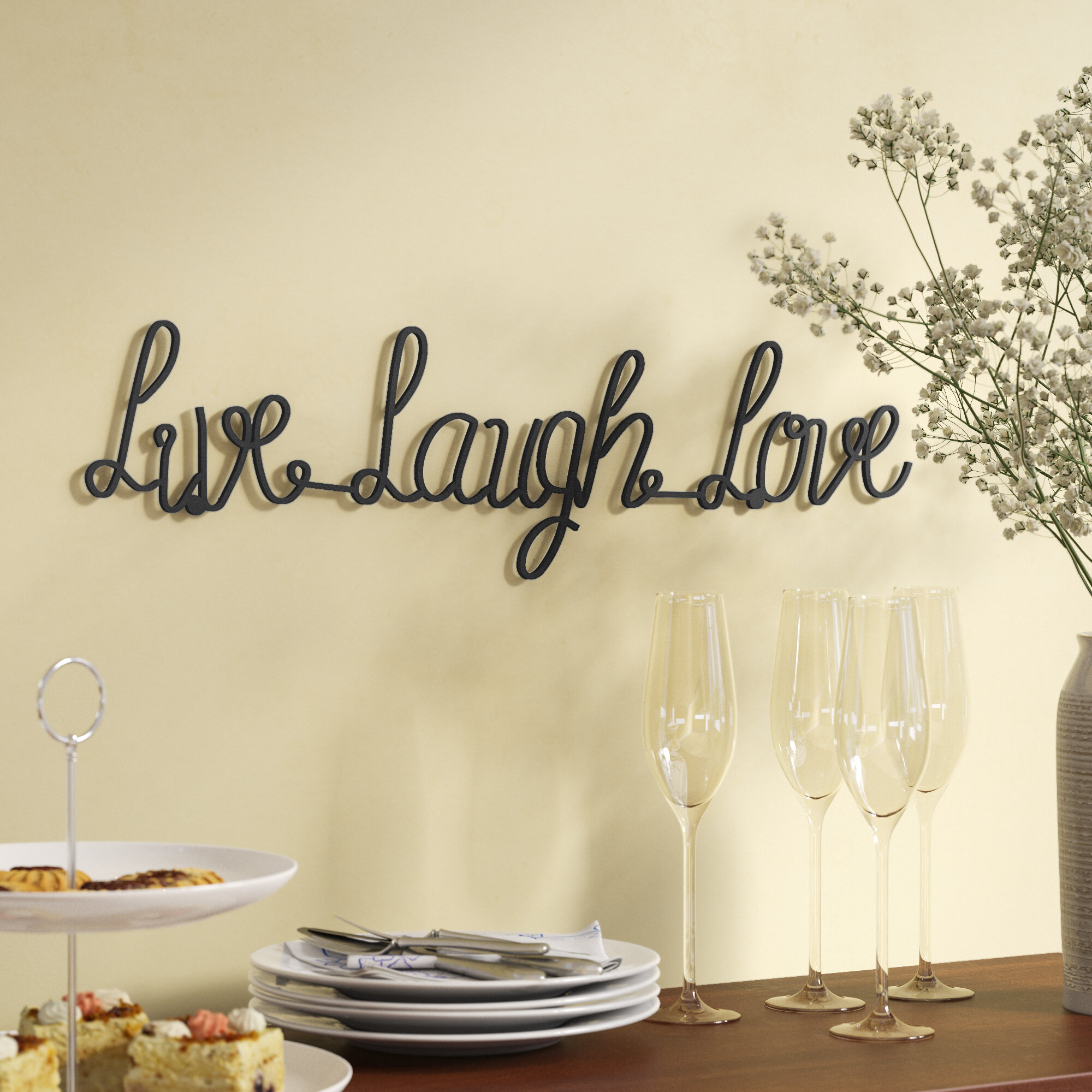 Gracie Oaks Live Laugh Love Metal Wall Decor Reviews Wayfair