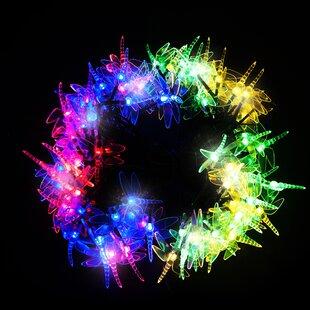 100 Multicolour LED Dragonfly Solar Fairy Lights Image
