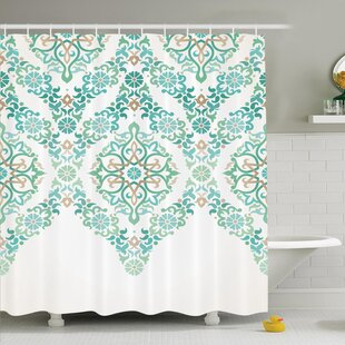 Affordable Price Traditional House Retro Middle Age Symmetrical Gothic Garland Forms in Pastel Print Shower Curtain Set By Ambesonne