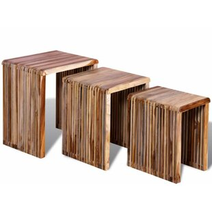 Amstelveen 3 Piece Nesting Tables by World Menagerie