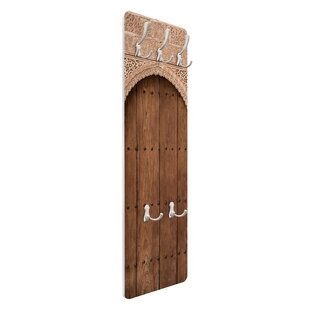 Wooden Gate From The Alhambra Palace Wall Mounted Coat Rack By Symple Stuff
