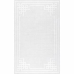 Look for Hawn Gray/White Indoor/Outdoor Area Rug By Wrought Studio