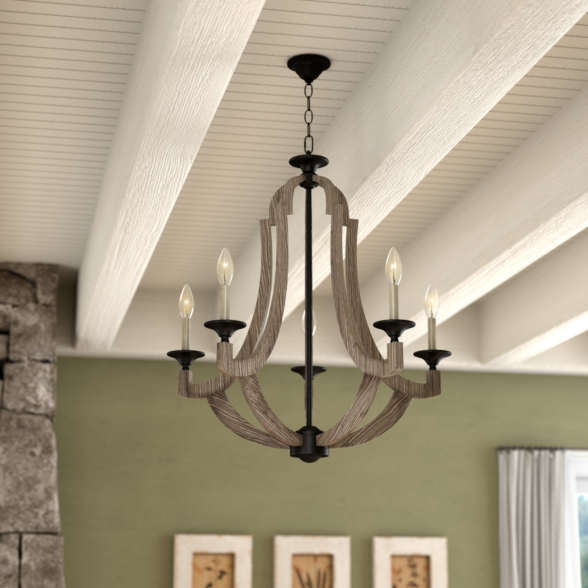 Laurel foundry modern farmhouse marcoux 5 light empire chandelier reviews wayfair