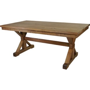Jauss Solid + Manufactured Wood Dining Table by Loon Peak
