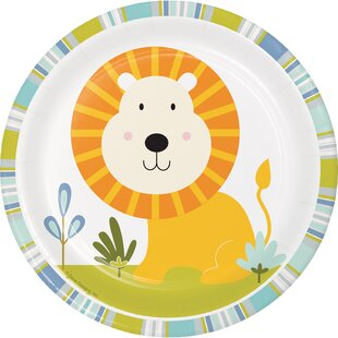 Lion Happy Jungle Appetizer Plate (Set of 24)