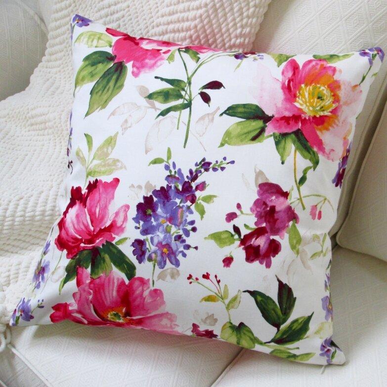 Artisan Pillows Colorful Flowers Cotton Pillow Cover Wayfair