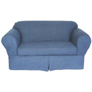 Skirted Box Cushion Sofa Slipcover