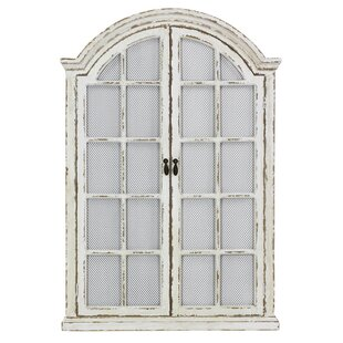 Lark Manor Window Cream Wood Wall Mirror