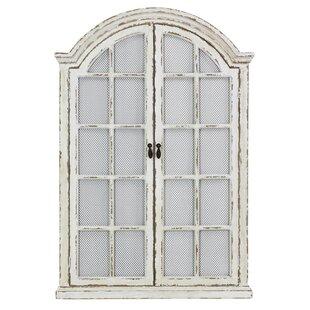 Window Cream Wood Wall Mirror