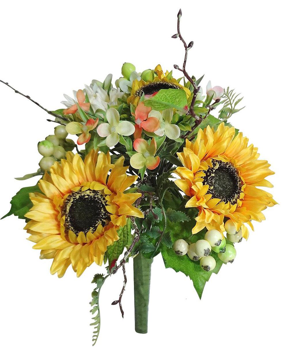 August Grove Handmade Sunflowers Centerpiece Wayfair