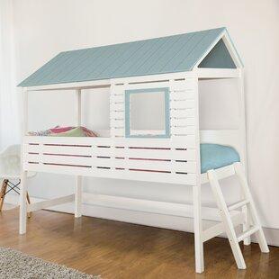 Zoomie Kids Ebony Canopy Bed