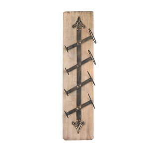 Yuba City 4 Bottle Wall Mounted Wine Rack By Borough Wharf