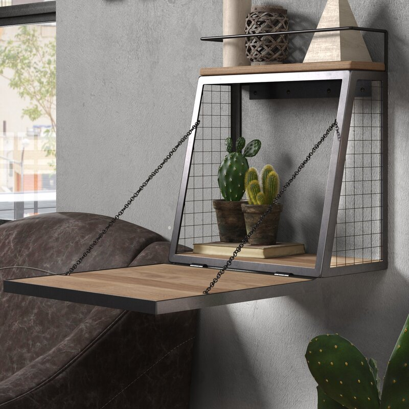 Gray/Brown Guadalupe Bar Floating Shelf by Trent Austin Design