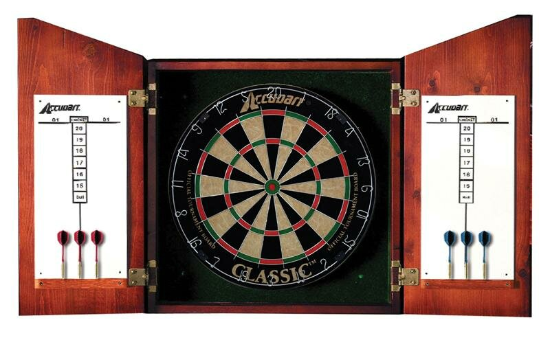 Bon Union Jack Dartboard Cabinet Set