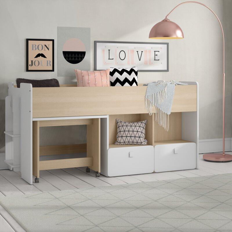 Einzelne mittlere Schlafkabine Hochbett mit Schubladen und Regalboden