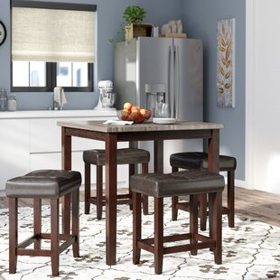 Red Barrel Studio Covedale 5 Piece Counter Height Dining Set
