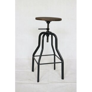 Nathanael Adjustable Height Swivel Bar Stool (Set of 2) by Williston Forge