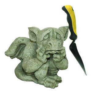 Levin Sad Dragon Stone Garden Statue By Happy Larry