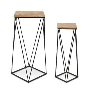 Lofland Metal Accent 2 Piece Nesting Tables by Mercury Row