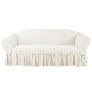 Essential Twill Box Cushion Sofa Slipcover