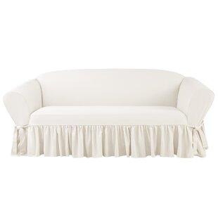 Essential Twill Box Cushion Sofa Slipcover