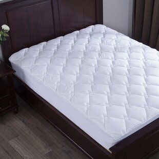 Rogue Rhombic Quilted Alternative Down Mattress Pad by Alwyn Home Coupon