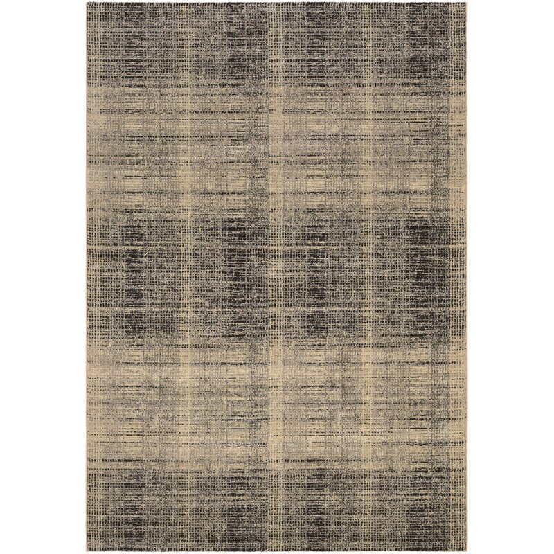 Trent Austin Design Covina Plaid Black Beige Gray Area Rug Wayfair