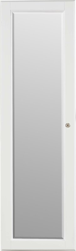 Flora Wall Mounted Jewelry Armoire With Mirror