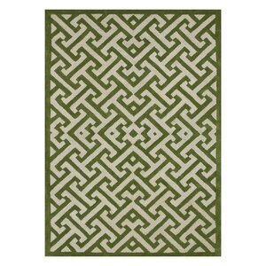 Brighton Hand-Tufted Green/Ivory Area Rug