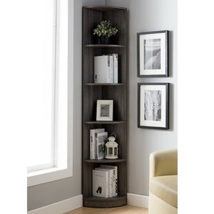 Hodge Display Corner Unit Bookcase by Wrought Studio Design