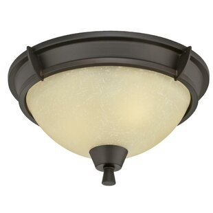 Metzger 2-Light Flush Mount by Charlton Home