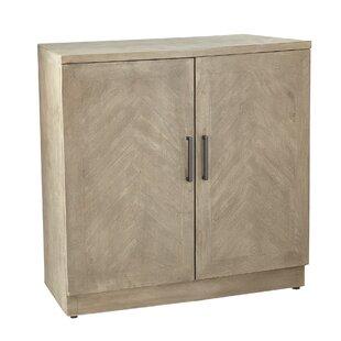 Luanda Rustic Wood Accent Cabinet