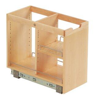 Ornamental Mouldings FindIT Kitchen Storage Organization Base Cabinet Pullout with Slide and Half Shelf