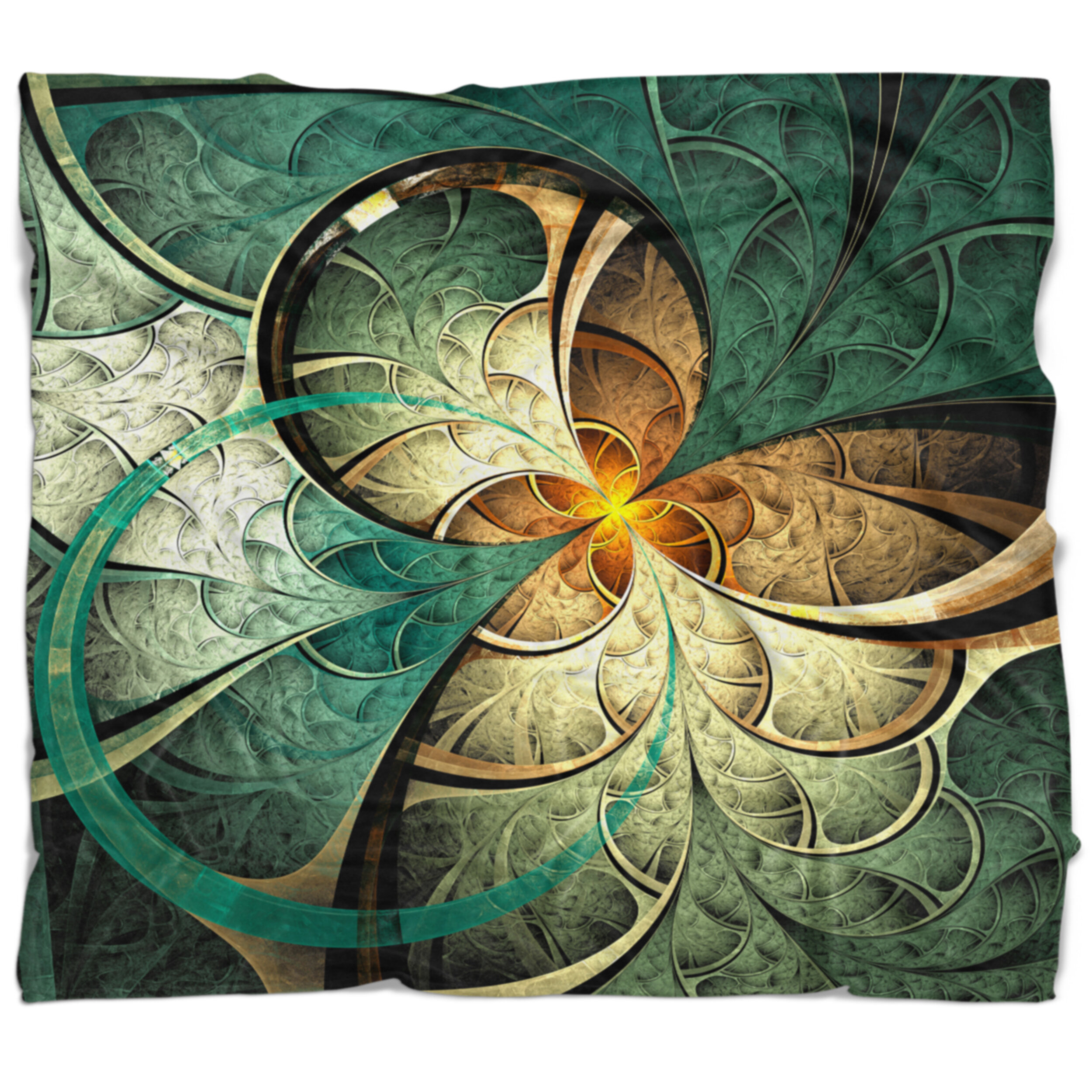 East Urban Home Fractal Flower Abstract Blanket Wayfair