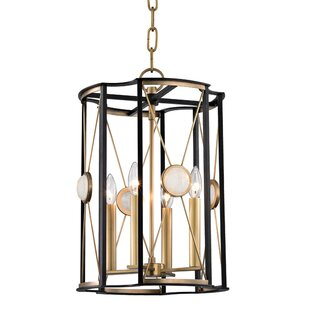 Emile 4-Light Geometric Chandelier by Willa Arlo Interiors